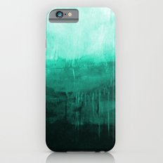 Paint 8 abstract minimal modern water ocean wave painting must have canvas affordable fine art iPhone 6s Slim Case