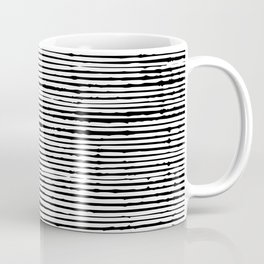 Boho, Striped Mudcloth, Black and White Coffee Mug