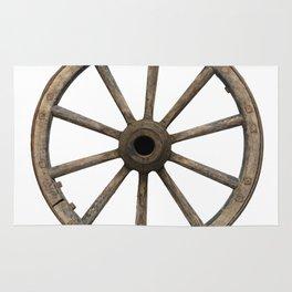 Old waggon wheel Rug