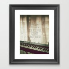 Music makes the people come together Framed Art Print