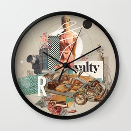 Spirited Royalty Wall Clock