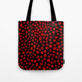 Ladybugs (Red on Black Variant) Tote Bag