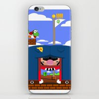 mario iPhone & iPod Skins featuring Mario by Ryan Miller