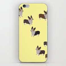 yellow corgis iPhone & iPod Skin