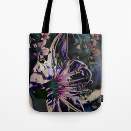 Acid blossom cherry Tote Bag