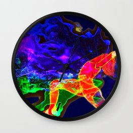 open up your heart Wall Clock
