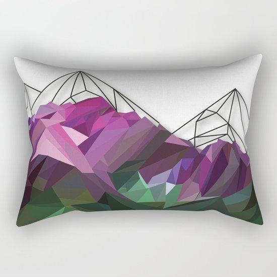 Crystal Mountains Rectangular Pillow