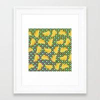 banana Framed Art Prints featuring banana by mark ashkenazi