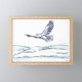 Flying Eagle, Hudson Valley (center) Framed Mini Art Print