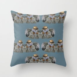 Baby Bird With Style Throw Pillow