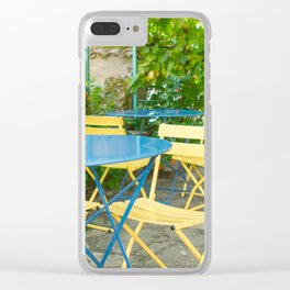 Dinner in the French Countryside Clear iPhone Case
