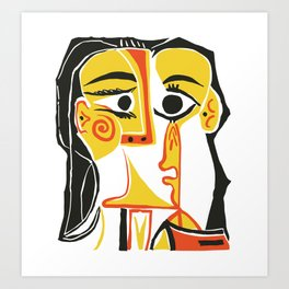Picasso - Woman's head #2 Art Print
