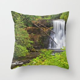 USA Silver Falls Oregon Nature Waterfalls Parks park Throw Pillow