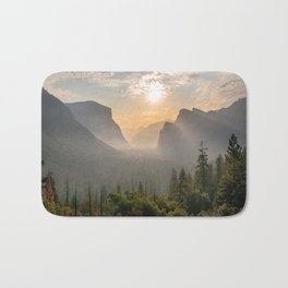 Morning Yosemite Landscape Bath Mat