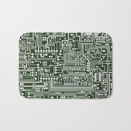 Circuit Board // Green & White Bath Mat