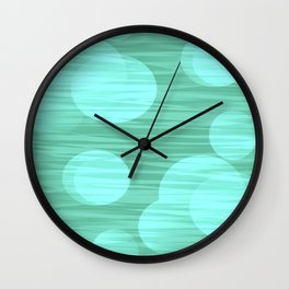 Touch of Green Moon Wall Clock