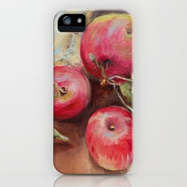 RED APPLES on the table Classic Still life Painting iPhone Case