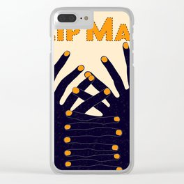 Zip Man Clear iPhone Case