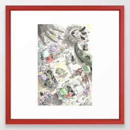 Creature Feature Scavenger Hunt Framed Art Print