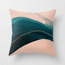 California Watercolor Winter Throw Pillow