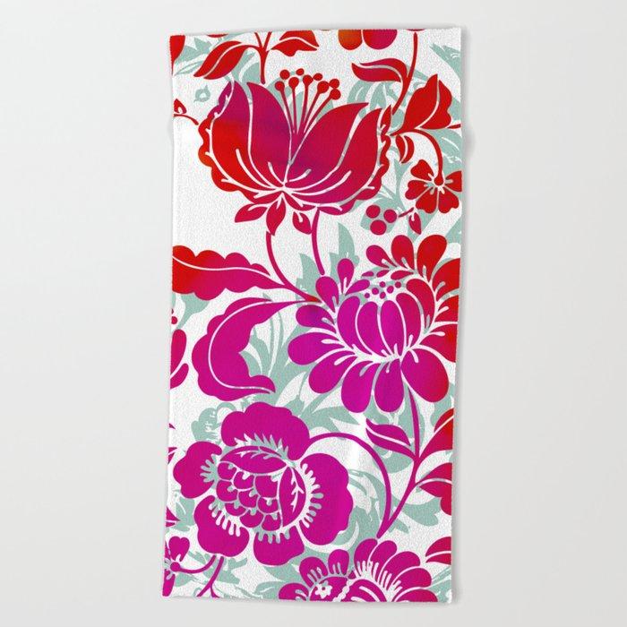 Flowers III Beach Towel