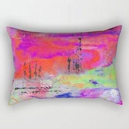 Mixed Media Abstract 2 Rectangular Pillow