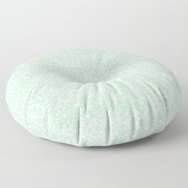 Tiny Spots - White and Mint Green Floor Pillow