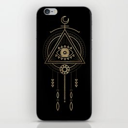 Mandala Tribal Eye Copper Bronze Gold iPhone Skin
