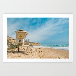 California Lifeguard Stand Art Print