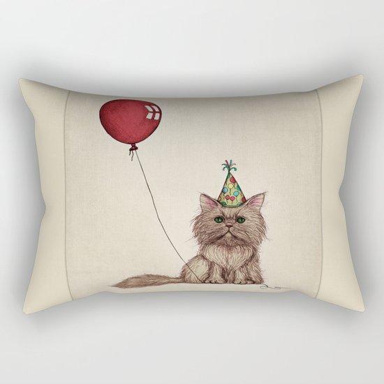 Balloon Love: Kitty Celebration Rectangular Pillow