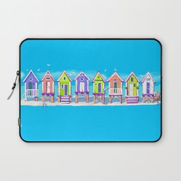 Island Beach Huts Laptop Sleeve