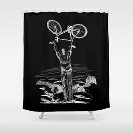 Bike Contemplation Shower Curtain