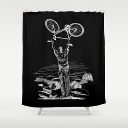 Bike Contemplation Shower Curtain