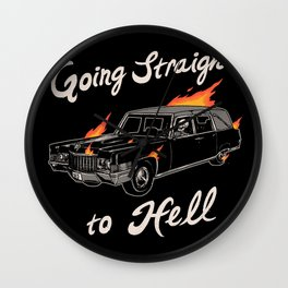 Going Straight To Hell Wall Clock