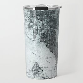 Vintage Seattle City Map Travel Mug