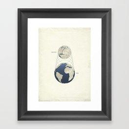 Growing Earth Framed Art Print