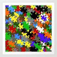 Puzzle Stones Art Print