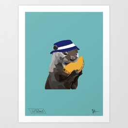 Bucket Hat Otter Art Print