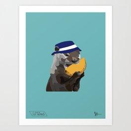 Bucket Hat Otter Art Print