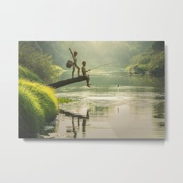Fishin' Hole Metal Print