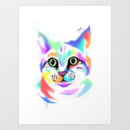 Rainbow Cat Art Print