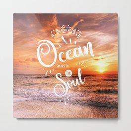 The Voice of the Ocean Metal Print