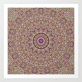 Magical Mandala Garden Art Print