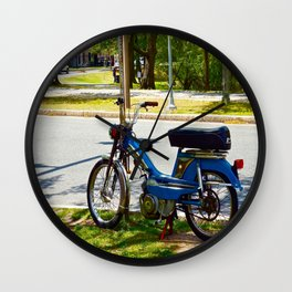 Bicycle Blue in the Green  Wall Clock