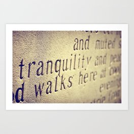 Tranquility Walks Here Art Print
