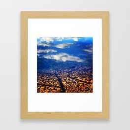 Sky Pebbles Framed Art Print