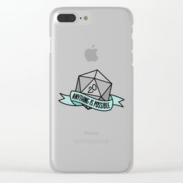 Anything is Possible D20 Clear iPhone Case
