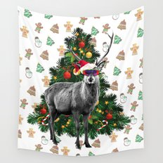 Christmas Deer Wall Tapestry