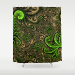 Fantasy World II, Abstract Fractal Art Shower Curtain