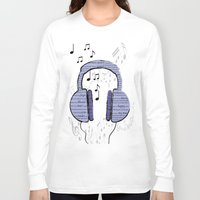 music notes Long Sleeve T-shirts featuring Music by LCMedia
